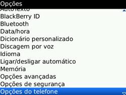 BlackBerry 8520 Curve - Caixa postal - Como configurar o número da caixa postal - Etapa 4