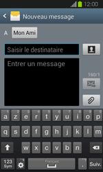 Samsung Galaxy Express - Contact, Appels, SMS/MMS - Envoyer un SMS - Étape 9