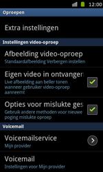Samsung I8530 Galaxy Beam - Voicemail - handmatig instellen - Stap 5