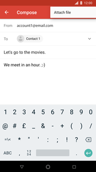 Nokia 8 Sirocco - E-mail - Sending emails - Step 10
