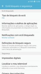Samsung Galaxy S6 Android M - Segurança - Como ativar o código de bloqueio do ecrã -  13