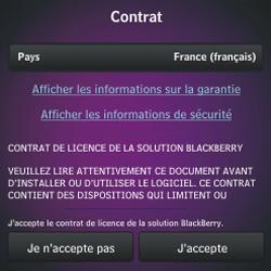BlackBerry Q10 - Premiers pas - Créer un compte - Étape 11