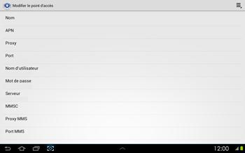Samsung P5100 Galaxy Tab 2 10-1 - Internet - configuration manuelle - Étape 10