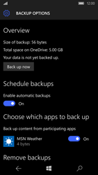 Microsoft Lumia 950 - Device maintenance - Create a backup of your data - Step 27