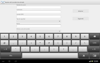 Sony Xperia Tablet Z - E-mail - Configurar correo electrónico - Paso 11