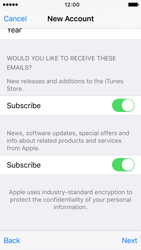 Apple iPhone 5s iOS 9 - Applications - Create an account - Step 17