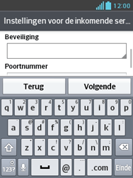 LG E430 Optimus L3 II - E-mail - e-mail instellen: IMAP (aanbevolen) - Stap 11