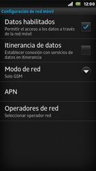 Sony Xperia U - Red - Seleccionar el tipo de red - Paso 8
