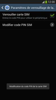 Samsung Galaxy Note 3 - Sécuriser votre mobile - Personnaliser le code PIN de votre carte SIM - Étape 11