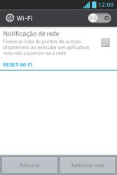 LG E612 Optimus L5 - Wi-Fi - Como configurar uma rede wi fi - Etapa 5