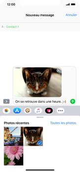 Apple iPhone XR - MMS - envoi d'images - Étape 13