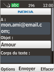 Nokia 6303i classic - E-mail - Envoi d