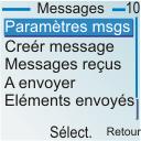 Nokia 6030 - SMS - configuration manuelle - Étape 4