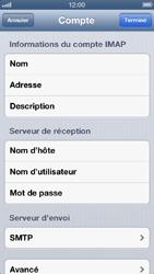 Apple iPhone 5 - E-mail - Configuration manuelle - Étape 16