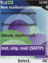 Nokia 7610 supernova - E-mail - handmatig instellen - Stap 19