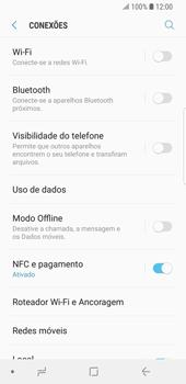 Samsung Galaxy S9 - Rede móvel - Como ativar e desativar uma rede de dados - Etapa 5