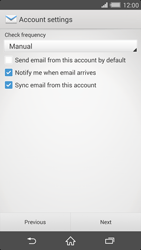 Sony Xperia Z2 (D6503) - E-mail - Manual configuration - Step 16