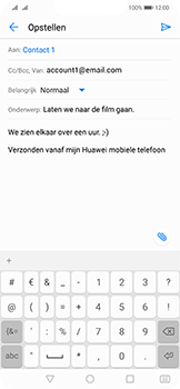 Huawei mate-20-lite-dual-sim-model-sne-lx1 - E-mail - Bericht met attachment versturen - Stap 9