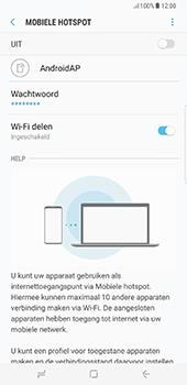 Samsung Galaxy S8 Plus (G955) - WiFi - Mobiele hotspot instellen - Stap 8