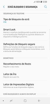 Samsung Galaxy S8 - Android Oreo - Segurança - Como ativar o código de bloqueio do ecrã -  12