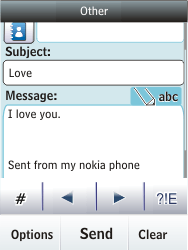 Nokia Asha 300 - Email - Sending an email message - Step 12