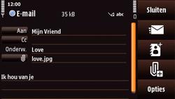 Nokia N97 Mini - E-mail - E-mails verzenden - Stap 14