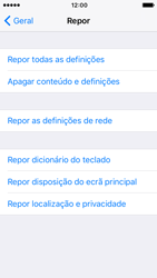 Apple iPhone 5s iOS 10 - Repor definições - Como repor definições de fábrica do telemóvel -  6