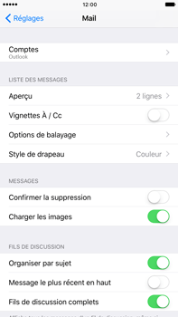 Apple Apple iPhone 6 Plus iOS 10 - E-mail - Configuration manuelle (outlook) - Étape 10