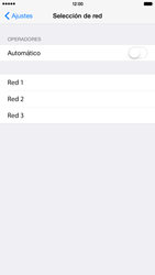 Apple iPhone 6 Plus iOS 8 - Red - Seleccionar una red - Paso 6