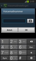 Samsung I8730 Galaxy Express - Voicemail - Handmatig instellen - Stap 8