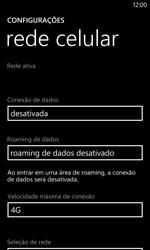 Nokia Lumia 1020 - Rede móvel - Como ativar e desativar uma rede de dados - Etapa 7