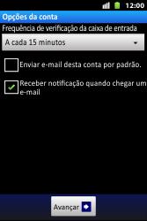 Huawei U8667 - Email - Como configurar seu celular para receber e enviar e-mails - Etapa 16
