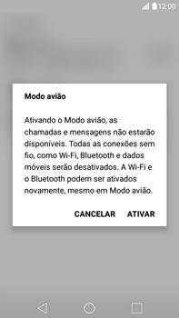 LG G5 Stylus - Rede móvel - Como ativar e desativar o modo avião no seu aparelho - Etapa 5