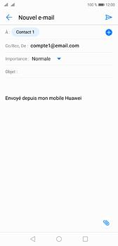 Huawei P20 - Dual SIM - E-mail - envoyer un e-mail - Étape 6