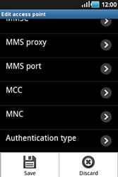 Samsung S5830 Galaxy Ace - Mms - Manual configuration - Step 11