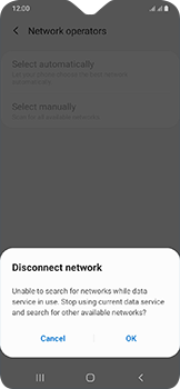 Samsung Galaxy A20e - Network - Manually select a network - Step 9