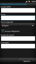 Sony Xperia U - E-mail - Configurar correo electrónico - Paso 13