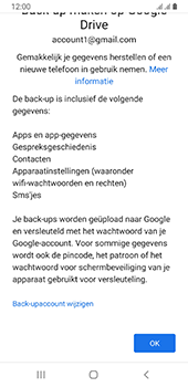 Samsung galaxy-a8-2018-sm-a530f-android-pie - Instellingen aanpassen - Back-up maken in je account - Stap 10