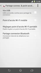 Sony Xpéria Z1 - Internet et connexion - Utiliser le mode modem par USB - Étape 8