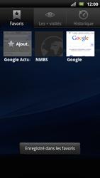 Sony Ericsson Xperia Arc S - Internet - navigation sur Internet - Étape 10