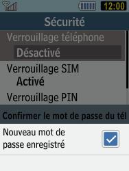 Samsung C3590 - Sécuriser votre mobile - Activer le code de verrouillage - Étape 11