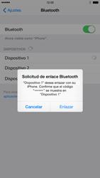 Apple iPhone 6 iOS 8 - Bluetooth - Conectar dispositivos a través de Bluetooth - Paso 6