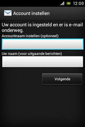 Sony ST23i Xperia Miro - E-mail - e-mail instellen: POP3 - Stap 15