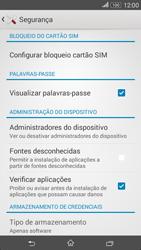 Sony Xperia E4 - Segurança - Como ativar o código PIN do cartão de telemóvel -  5