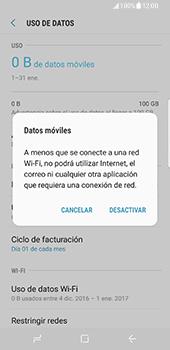 Samsung Galaxy S8 - Internet - Activar o desactivar la conexión de datos - Paso 7