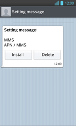 LG P710 Optimus L7 II - MMS - Automatic configuration - Step 5