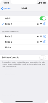 Apple iPhone X - iOS 12 - Wi-Fi - Como configurar uma rede wi fi - Etapa 7