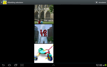 Samsung N8000 Galaxy Note 10-1 - MMS - afbeeldingen verzenden - Stap 12