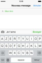 Apple iPhone 4S - Contact, Appels, SMS/MMS - Envoyer un SMS - Étape 8