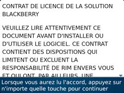 BlackBerry 9720 - Premiers pas - Créer un compte - Étape 4